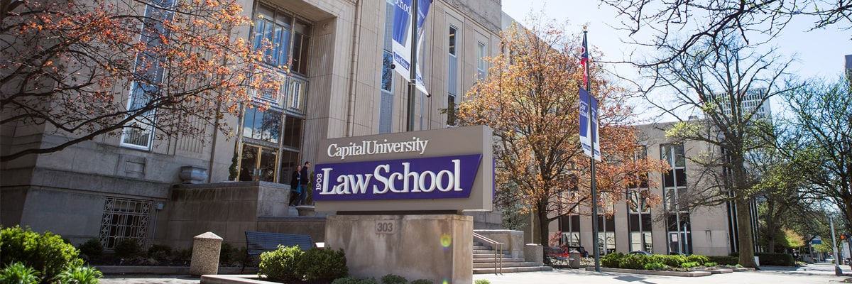 Law School Exterior with Sign