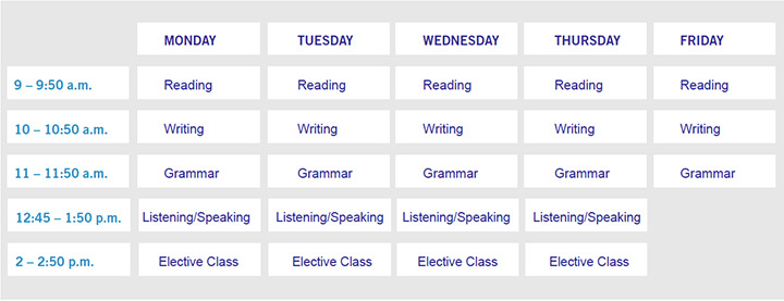 Fall-Spring-ESL-Schedule